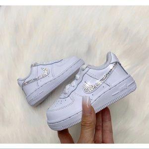 ⚡️Custom Nike Air Force 1 Bling Toddler Shoes⚡️